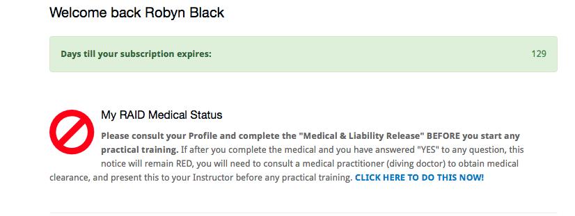 online medical questionnaire